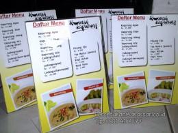 Percetakan Daftar menu makassar, Percetakan, Makassar